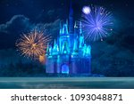 Magic Blue Ice Castle With...