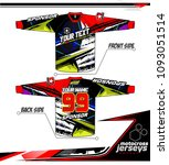 long sleeve motocross jerseys t ... | Shutterstock .eps vector #1093051514