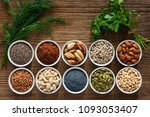 foods rich in magnesium as... | Shutterstock . vector #1093053407
