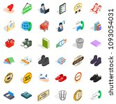 open icons set. isometric style ... | Shutterstock . vector #1093054031