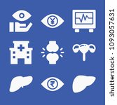 set of 9 medical filled icons...   Shutterstock .eps vector #1093057631