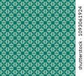 green geometric pattern in...   Shutterstock . vector #1093061924