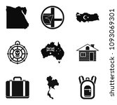cartography icons set. simple... | Shutterstock . vector #1093069301