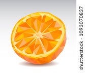 polygonal orange slice. low... | Shutterstock .eps vector #1093070837