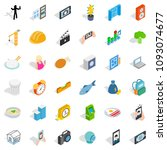 feature icons set. isometric... | Shutterstock . vector #1093074677