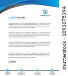 letterhead design template... | Shutterstock .eps vector #1093075394