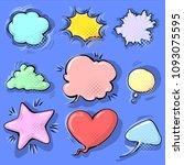 cartoon funny comic empty...   Shutterstock .eps vector #1093075595