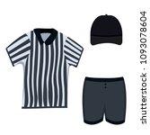 referee clothing set  black cap ... | Shutterstock .eps vector #1093078604