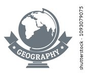 geography logo. simple... | Shutterstock . vector #1093079075