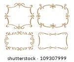 set of frame doodle | Shutterstock .eps vector #109307999
