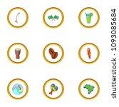 brazilia icons set. cartoon...   Shutterstock . vector #1093085684