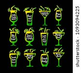 party cocktails doodle icons...   Shutterstock .eps vector #1093094225