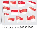 set of flags of singapore... | Shutterstock .eps vector #109309805
