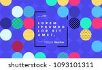 geometric abstract background... | Shutterstock .eps vector #1093101311