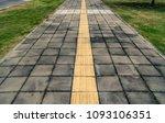 asphalt road and concrete block ...   Shutterstock . vector #1093106351