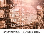 modern way of exchange. bitcoin ... | Shutterstock . vector #1093111889