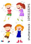 a set of kids laughing ... | Shutterstock .eps vector #1093133291
