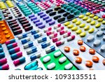 colorful of tablets and... | Shutterstock . vector #1093135511