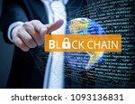 concept of  blockchain ... | Shutterstock . vector #1093136831