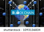 concept of  blockchain ... | Shutterstock . vector #1093136834