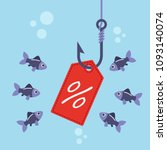 label with percent on fishing... | Shutterstock .eps vector #1093140074