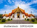 wat benchamabophit  bangkok ... | Shutterstock . vector #109314104