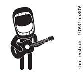 enthusiastic guitarist singing...   Shutterstock .eps vector #1093155809