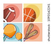 set of sports equipment | Shutterstock .eps vector #1093162241