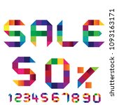 sale  50 . numbers colorful set ... | Shutterstock .eps vector #1093163171