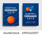 basketball tournament posters...   Shutterstock .eps vector #1093163507