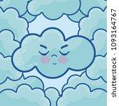 cute cloud cartoons | Shutterstock .eps vector #1093164767