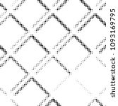 abstract grunge grid polka dot... | Shutterstock . vector #1093169795