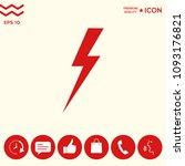 thunderstorm lightning icon | Shutterstock .eps vector #1093176821