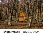 log cabin in forest tierra del...   Shutterstock . vector #1093178924