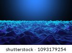 wireframe of mountains in... | Shutterstock . vector #1093179254