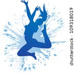 Dancing Girl With Blue Spots...