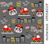 fire rescue pattern vector...   Shutterstock .eps vector #1093182119