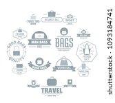 travel baggage logo icons set.... | Shutterstock .eps vector #1093184741