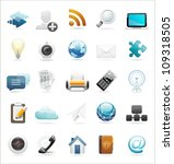web and internet icon set | Shutterstock .eps vector #109318505