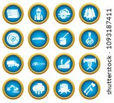 timber industry icons set.... | Shutterstock .eps vector #1093187411