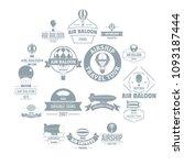 air balloon logo icons set....   Shutterstock .eps vector #1093187444