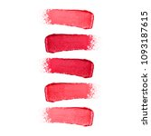 collection of red lipstick... | Shutterstock . vector #1093187615