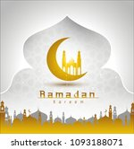 vector illustration of a muslim ... | Shutterstock .eps vector #1093188071