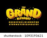 vector of stylized modern font... | Shutterstock .eps vector #1093193621