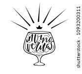 wine hand drawn quote... | Shutterstock .eps vector #1093200311