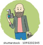 photographer amateur... | Shutterstock .eps vector #1093202345
