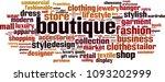 boutique word cloud concept....
