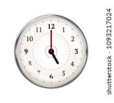 realistic clock face showing 05 ... | Shutterstock . vector #1093217024