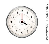 realistic clock face showing 04 ... | Shutterstock . vector #1093217027