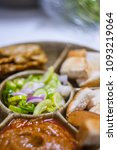 a delicious food name moo satay ... | Shutterstock . vector #1093219064